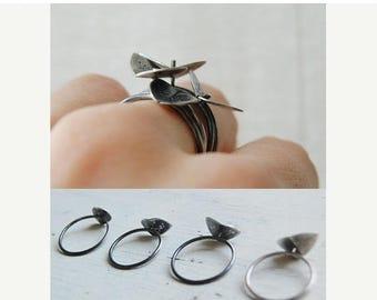 Stacking silver rings Germinando // GR007