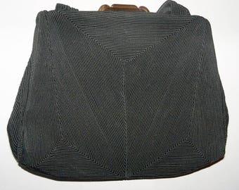 Signed Corde Black Purse Top Handle Handbag Vintage Evening Opera Bag Collectible Gift Guide Women