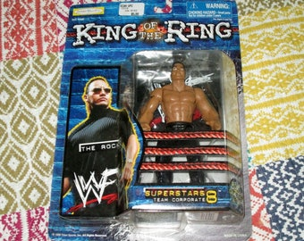 90s WWE WWF The Rock superstars 8 wrestling Figure Jakks King Of Ring