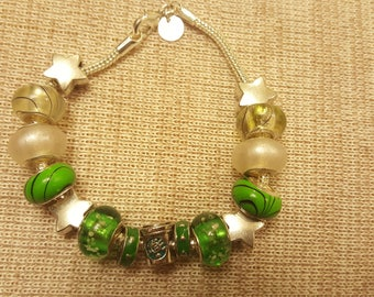 green coffee - a euro bead bracelet for the lover of fine coffee