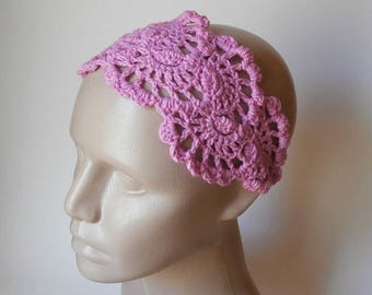 ON SALE 15 % SALE Crochet Headband - Lace Head Band - Hair Accessories - Crochet Hair Band