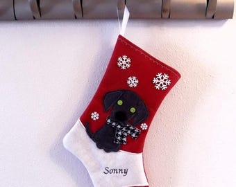CHRISTMAS IN JULY Weimaraner Dog Personalized Christmas Stocking by Allenbrite Studio