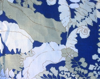 """Vintage Stroheim and Romann Floral Fabric 55"""" w x 63"""" long"""