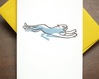 Panther Letterpress Greeting Card | Signature Series