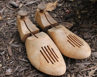 Vintage Wood Shoe Stretchers Bare Wood Light Wood Shoe Forms