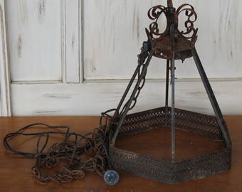 DIY Rusted Pendant Light, Make it Your Own, Parts or Repair, Industrial light, Rusted Furniture