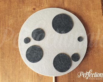 Moon Photo Booth Prop | Space Birthday Prop | Galactic Props