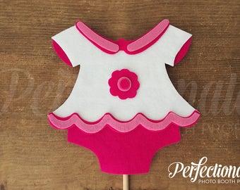 Pink Onesie Photo Prop | Baby Shower Photo-Booth Props | Fiesta Baby Shower Props