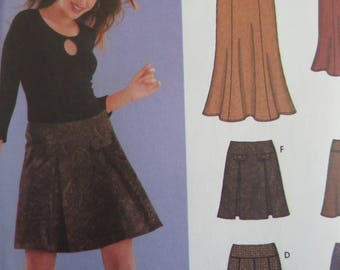 TRUMPET SKIRT Pattern • Simplicity 5351 • Miss 12-20 • Pleated Skirt • Banded Skirt • Sewing Patterns • Modern Patterns • WhiletheCatNaps