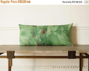 ON SALE Green pillow  / Splash / Linen decorative lumbar pillow case...  /  FRAGMENTS