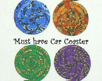 Car Cup Coasters, Absorbent Car Coasters, Automobile Coasters, Washable Car Coaster, Gift for Drivers, Auto Coasters, Car Coasters