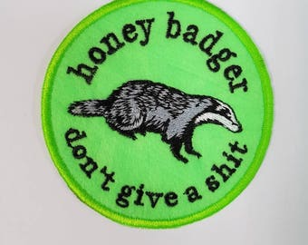 Honey Badger sew-on patch