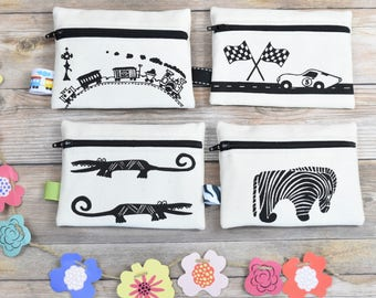 Set of 4 Coin Purses, Small Coin Purse, Animal Change Purse, Kids Wallets, Kids Allowance, Zipper Coin Purse, Kids Zipper Pouch, Kids Gifts