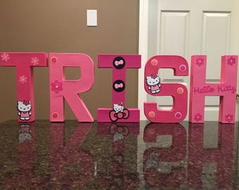 Hello Kitty Custom Name Letters - price is per letter
