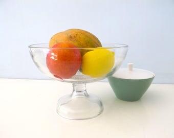 Vintage  Federal Glass Stem Fruit Bowl