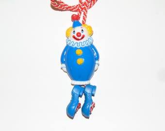 Vintage Avon Magic Clown Pendant Necklace Adjustable Legs 1983