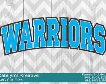 Warriors Arched SVG Files