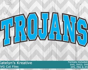 Trojans Arched SVG Files