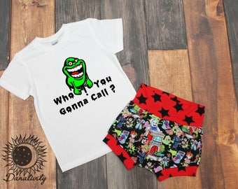 Ghostbusters Outfit || Slimer Shirt || Ghostbusters Shorts || Toddler Shorties || Toddler Tee || Graphic Tee || Who you gonna call ||