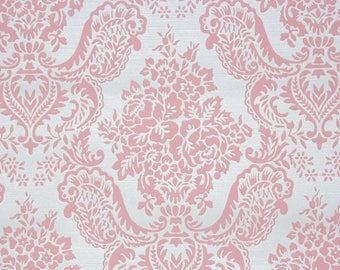 Retro Flock Wallpaper By The Yard 70s Vintage Flock Wallpaper U2013 1970s Pink  Flock Floral Damask Great Pictures
