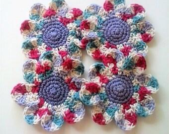 Daisy Coasters - Farmhouse - Set of 4 Large Cotton Coasters