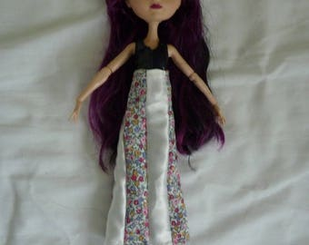 Ever after high EAH floral and white satin ankle length doll skirt