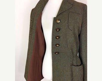 ON SALE 40s Speckled Soft Wool Jacket - Size Medium