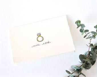Simple Engagment Card - Congratulations - Wedding Shower Card - Nice Rock