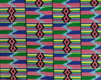 ON SALE Kente African Print Fabric (sold by the yard)