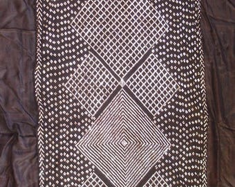 Antique Egyptian black and silver assuit Tribal fusion dance tulle Coptic shawl