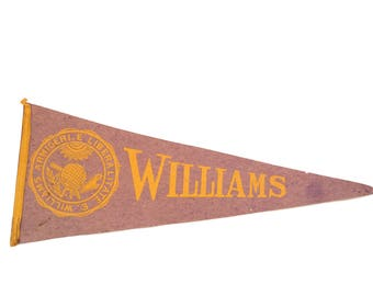 Vintage Williams College Felt Flag