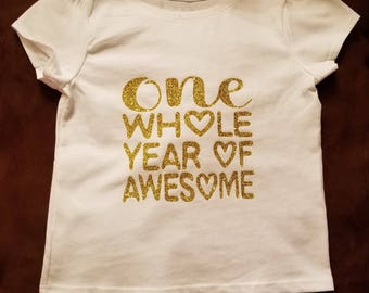 Toddler One Year T-Shirt
