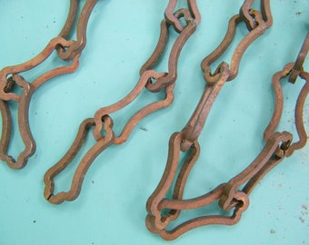 """Vintage Brass 48 1/2"""" Chandelier Light Fixture Chain for Lamp Repair Steampunk Jewelry Assemblage Repurpose"""