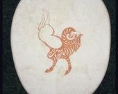 Scythian Design Mountain Goat Drum