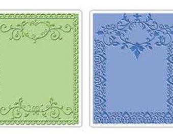 Sizzix Textured Impressions Embossing Folders 2PK - ORNATE FRAMES Set