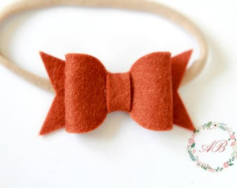 Cinnamon Bow Headband - Cinnamon Baby headband - Girls Cinnamon Bow Headband - Cinnamon Bow Headband - Brown Bow Headband