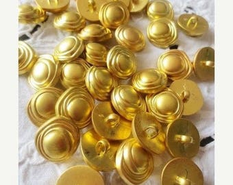Gold Shank Buttons Brushed Golden Mix-80 pieces