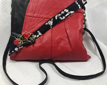 Red and Black Leather Bag