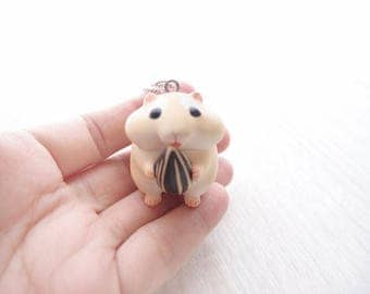 cute hamster 3 necklace