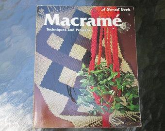 Sunset Macrame Book 1975 Free Shipping