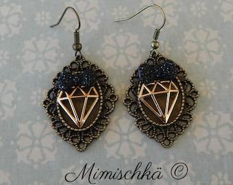 Earrings diamond pin up