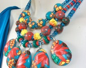 Tropical Print Necklace