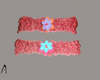 Premature Baby headbands, Set of 2 hand knitted in the USA. Photo prop, Baby shower gift.
