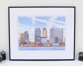Canary Wharf London - Limited Edition Art Print