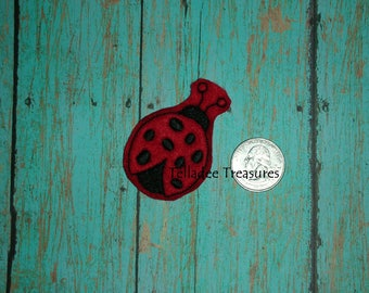 Cute Lady Bug Feltie - Red small felt - Great for Hair Bows, reels, pins, headbands, planners or Crafts