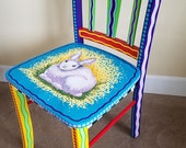 Balance on Custom Painted Chair for Wendy