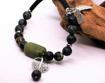 Bracelet arbre de vie//Bracelet vert//Bracelet turquoise//Tree of life bracelet//green bracelet//handmade bracelet