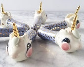 READY TO SHIP Gold Sprinkles Unicorn Pipe lavender