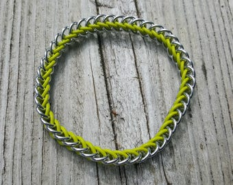 Chartreuse Half Persian 3-in-1 Rubber Ring Bracelet