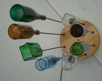 Liquor Bottle Chandelier